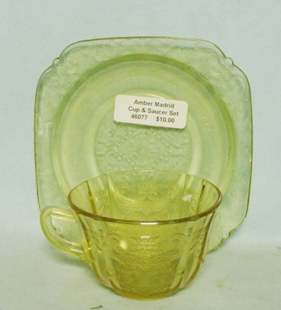 Madrid Amber Cup & Saucer Set - Product Image