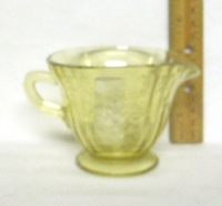 Madrid Amber Tall Footed Creamer - Product Image