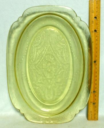 "Madrid Amber 11 1/2"" Oval Platter - Product Image"