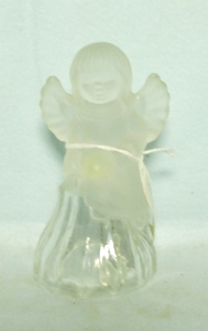 Christmas Small Frosted Angel Bell - Product Image