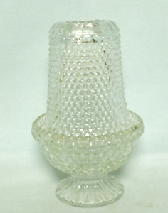 Indiana Glass Clear Hobnail Fairy Lamp Complete - Product Image