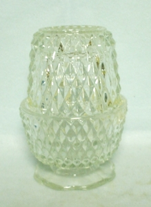 Indiana Glass Clear Diamond Point Fairy Lamp - Product Image