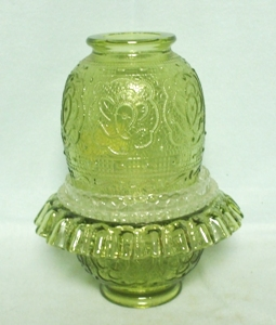 Fenton Green Persian Medallion 3 Piece Fairy Lamp - Product Image