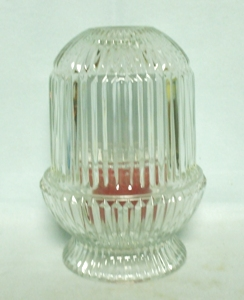 Indiana Glass Clear Ribbed Fairy Lamp - Product Image