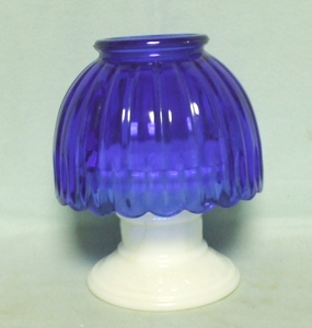 "Westmoreland Cobalt Blue 6 1/2"" Fairy Lamp - Product Image"