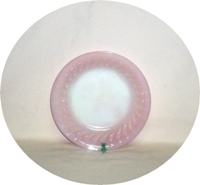"Fire King Pink Swirl 7 5/8"" Flat Soup Bowl - Product Image"