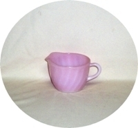 Fire King Pink Swirl Creamer - Product Image