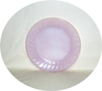 "Fire King Pink Swirl 7 3/8"" Salad Plate - Product Image"