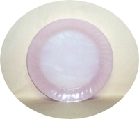"Fire King Pink Swirl 11"" Serving Platter - Product Image"