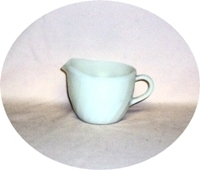 Fire King Ivory Swirl Creamer - Product Image