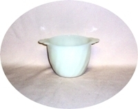 Fire King Ivory Swirl Sugar Bowl no Lid - Product Image