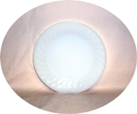 "Fire King Ivory Swirl 7 3/8"" Salad Plate - Product Image"