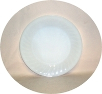 "Fire King Ivory Swirl 9 1/8"" Dinner Plate - Product Image"