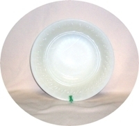 "Fire King Ivory Swirl 8 1/4"" Vegetable Bowl - Product Image"