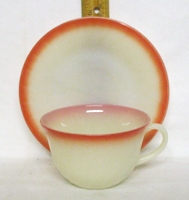 Fire King Sunrise Swirl Cup & Saucer Set - Product Image