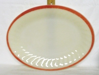 Fire King Sunrise Swirl Oval Serving Platter - Product Image