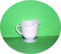 Fire King White Swirl Creamer - Product Image