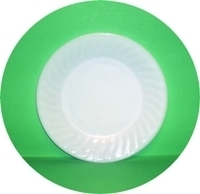 "Fire King White Swirl 9 1/8"" Dinner Plate - Product Image"
