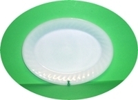 "Fire King White Swirl 11""Oval Platter - Product Image"