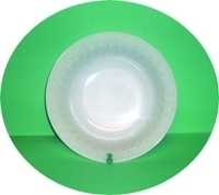 "Fire King White Swirl 8 1/4"" Vegetable Bowl - Product Image"