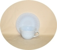 Fire King Azure Blue Swirl Cup & Saucer Set - Product Image
