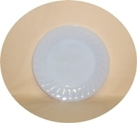 "Fire King Azure Blue Swirl 7 3/4"" Salad Plate - Product Image"