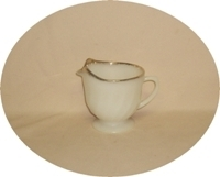 Fire King Golden Anniversary Swirl Creamer - Product Image