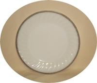 "Fire King Golden Anniversary Swirl 9 1/8"" Dinner Plate - Product Image"