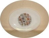 """Fire King Homestead 9"""" x 12""""Oval Platter - Product Image"""