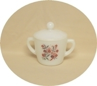 Fire King Primrose Sugar Bowl with the lid - Product Image