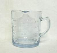 Fireking Sapphire Blue 8 Oz, 1 Spout Measuring Cup - Product Image