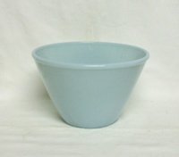 "Fire King Turquoise Blue 6 3/4"" Splash Proof Mixing Bowl - Product Image"