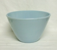 "Fire King Turquoise Blue 7 5/8""Splash Proof Mixing Bowl - Product Image"