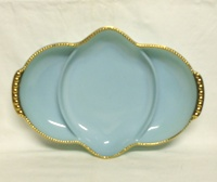 "Fire King Turquoise Blue 11 1/2"" 3-Part Oblong Relish Tray - Product Image"