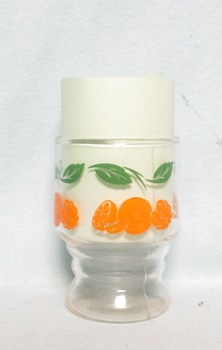 "Oranges Decoration 3 1/4"" Juice Glass - Product Image"