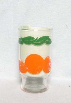 """Oranges Decoration Small Base 4"""" Juice Glass - Product Image"""