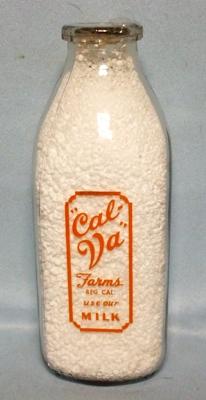 Cal Va Farms Use our Milk Square Quart Milk Bottle - Product Image