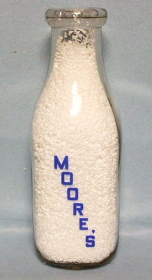 Moore's Dairy Square 1 Quart Milk Bottle - Product Image