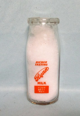 Flynn Milk Your Best Buy 1/2 Pint Square Milk Bottle - Product Image
