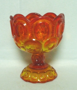 "Moon & Star Amberina #5294 5 1/2"" Small Compote - Product Image"