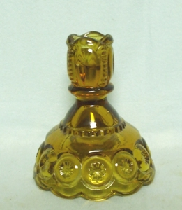Moon & Star Amber #5231 Candleholder - Product Image