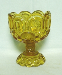 "Moon & Star Amber 4 1/2"" Compote / no Lid - Product Image"