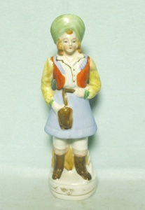 Occupied Japan Lady in a Blue Dress Figurine - Product Image
