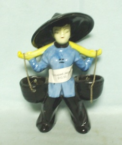 Occupied Japan Water Boy in a Blue Shirt Figurine - Product Image