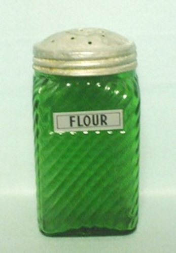 Forest Green Owens Ill. Square Slant Design Sugar Shaker - Product Image
