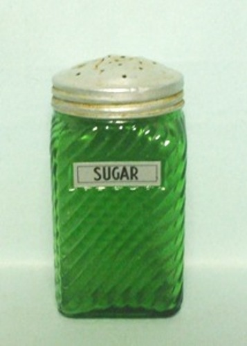 Forest Green Owens Ill. Square Checkered Design Pepper Shaker - Product Image