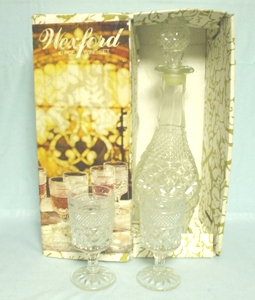 "Wexford 32 oz. Decanter w 8  5 1/2"" Wine Goblets(MIB) - Product Image"