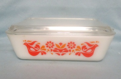 Pyrex Friendship Bird Pattern Large Refigerator Dish - Product Image