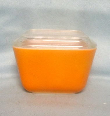 Pyrex Primary Color Orange Small Referigator Dish - Product Image