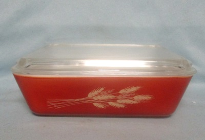 Pyrex Harvest Wheat Large Refigerator Dish - Product Image